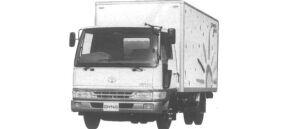 Toyota Dyna ALUMINUM VAN S 3t 1995 г.