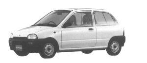 Subaru Vivio 3DOOR VAN 2-SEATER 1995 г.