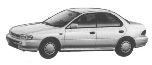 Subaru Impreza 4 door Hardtop Sedan 1.6L 4WD CS Extra 1995 г.