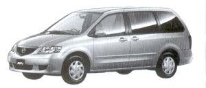 Mazda MPV G (I 4 2.3L) 7-seaters, FF 2002 г.