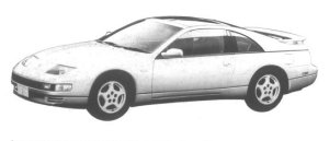 Nissan Fairlady Z 300ZX TWIN TURBO 2BY2 T BAR ROOF 1994 г.