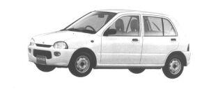 Subaru Vivio 5 DOORS SEDAN 4WD ef 1994 г.