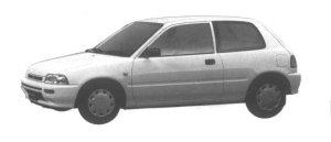 Daihatsu Charade POSE 1300 3DOOR 1994 г.
