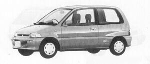 Mitsubishi Minica 3DOOR SEDAN MF 1991 г.