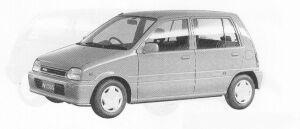 Daihatsu Mira 5DOOR  J-TYPE Q 1991 г.