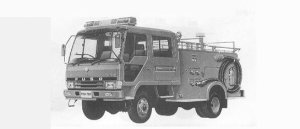Mitsubishi Fighter FIRE ENGINE 4WD 1991 г.