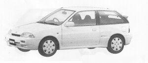 Suzuki Cultus HATCH BACK 3DOOR GT-I 1300 (4WD) 1991 г.