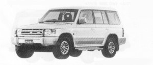 Mitsubishi Pajero MID ROOF WIDE  SUPER EXCEED 1991 г.