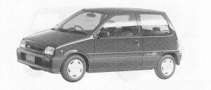 Daihatsu Mira 3DOOR J-TYPE Q 1991 г.
