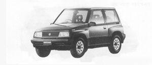 Suzuki Escudo HARD TOP 1991 г.