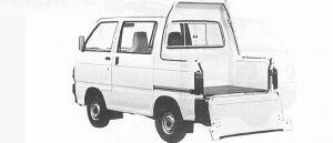 Daihatsu Hijet DECK VAN 1991 г.