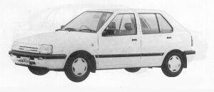 Nissan March 5DOOR HATCH BACK I-Z-F 1991 г.