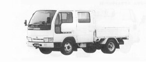 Nissan Atlas 1.75T DOUBLE CAB, DOUBLE TIRE DX 1991 г.