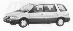 Mitsubishi Chariot MZ 1991 г.
