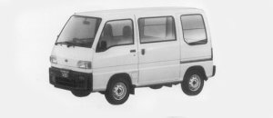Subaru Sambar VAN STANDARD ROOF STD 1996 г.