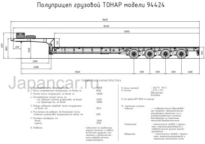 Полуприцеп ТОНАР 94424 2018 года в Путилково