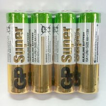 батарейка r- 6 gp super alkaline 15аrs-2sb4 s 4/96