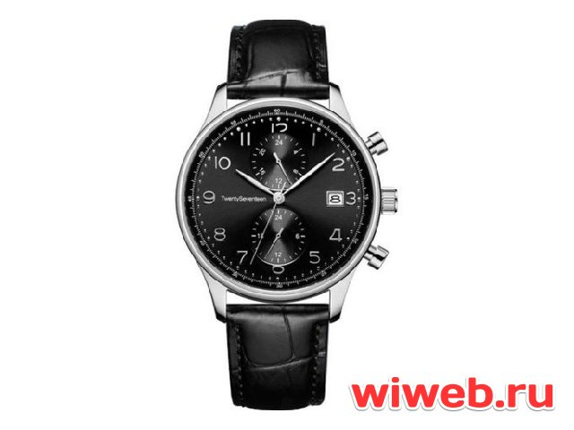 Часы наручные аналоговые Xiaomi Twenty Seventeen Light Business Quartz Watch Black W003Q