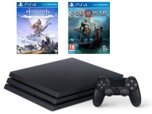 Игровая приставка Sony PlayStation 4 Pro 1Tb Black CUH-7208B + God of War, Horizon: Zero Dawn PS719994602