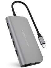 Хаб USB HyperDrive Power 9-in-1 USB-C Hub Grey HD30F-GREY