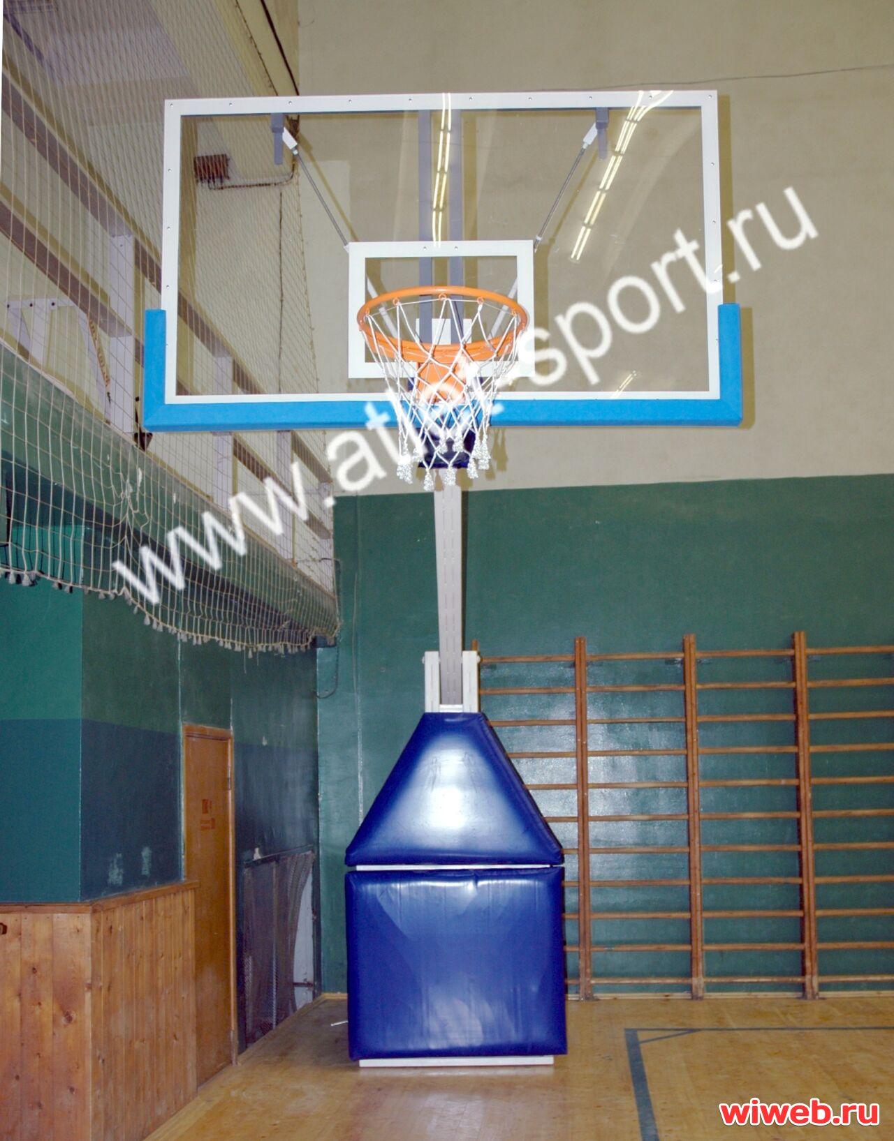 b340caa0 ATLET Стойка баскетбольная профессиональная мобильная складная вынос 3,25м.  «ATLET 325»