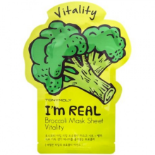 Tony Moly Тканевая маска с экстрактом брокколи I'm Real Broccoli Mask Sheet Vitality Tony Moly, 21 мл