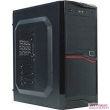 Exegate EX267184RUS Корпус Miditower Exegate AB-220A Black, ATX, <AAA400W, 80mm>, 2*USB, Audio
