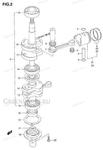Поршневые кольца(ретро) на моторы Suzuki DT4-DT-6 на SUZUKI DT4-DT-6- DT5-DT-2