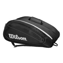 Чехол 10-12 ракеток Wilson Fed Team Black/White WRZ834812